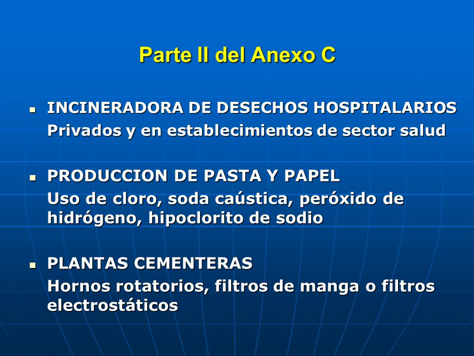 Parte II del Anexo C PROCESOS TERMICOS DE LA INDUSTRIA METALURGICA PROCESOS TERMICOS DE LA INDUSTRIA METALURGICA - Producción secundaria de cobre: hornos rotatorios (fundición de chatarra), hornos de inducción (fundición de cátodos), otros.