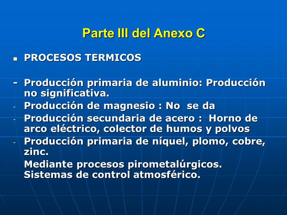 Parte III del Anexo C FUENTES DE COMBUSTION DOMESTICAS FUENTES DE COMBUSTION DOMESTICAS Uso de leña (madera), principalmente en las regiones rurales del país para cocina y calefacción.