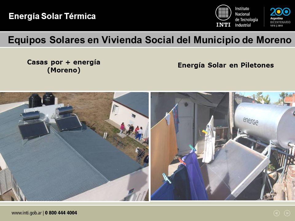 Energía Solar Térmica Equipos Solares en Vivienda Social del Municipio de Moreno Casas por + energía (Moreno) Energía Solar en Piletones