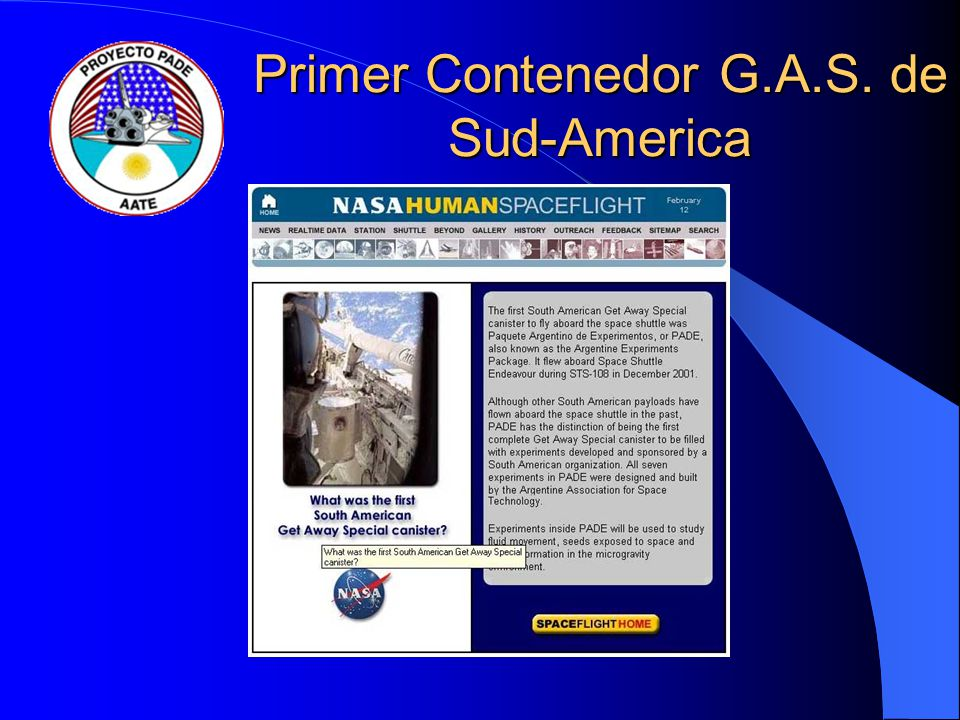Primer Contenedor G.A.S. de Sud-America