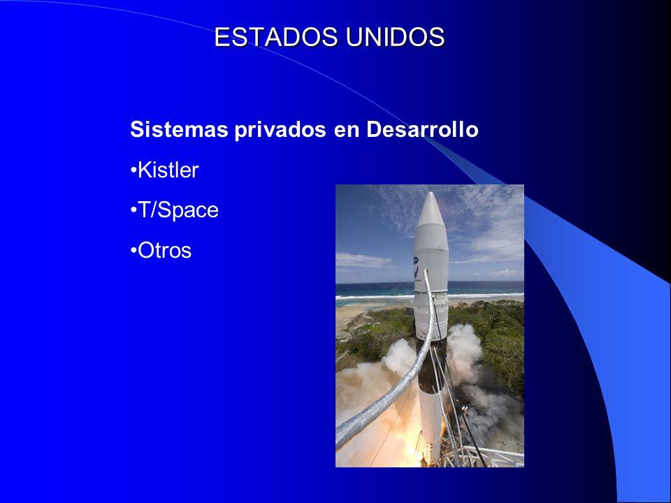 ESTADOS UNIDOS Sistemas privados en Desarrollo Kistler T/Space Otros