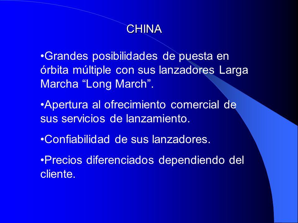 CHINA Grandes posibilidades de puesta en órbita múltiple con sus lanzadores Larga Marcha Long March. Apertura al ofrecimiento comercial de sus servici