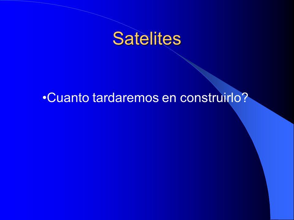 Satelites Cuanto tardaremos en construirlo?