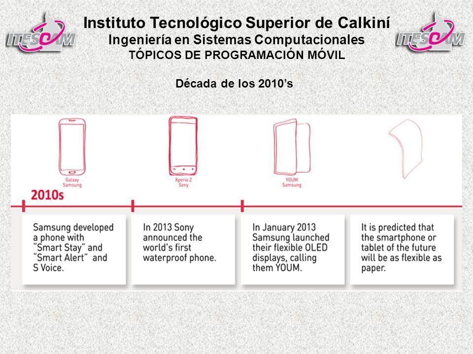 Instituto Tecnológico Superior de Calkiní Ingeniería en Sistemas Computacionales TÓPICOS DE PROGRAMACIÓN MÓVIL Década de los 2010s