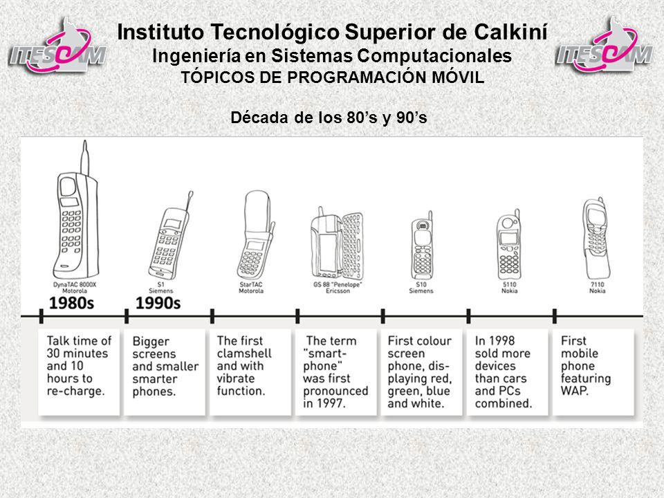 Instituto Tecnológico Superior de Calkiní Ingeniería en Sistemas Computacionales TÓPICOS DE PROGRAMACIÓN MÓVIL Década de los 80s y 90s