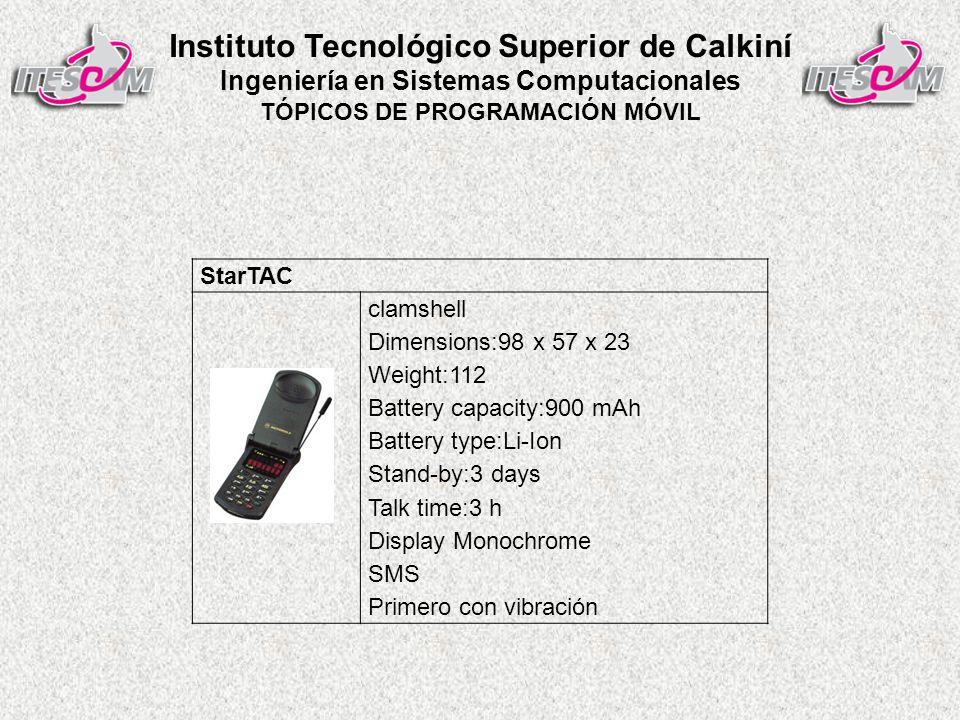 Instituto Tecnológico Superior de Calkiní Ingeniería en Sistemas Computacionales TÓPICOS DE PROGRAMACIÓN MÓVIL Ericsson GS 88 Penélope Primer smartphone
