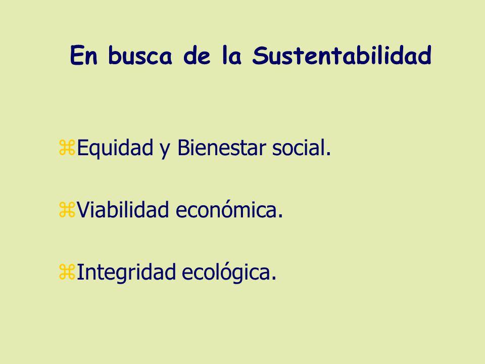 En busca de la Sustentabilidad zEquidad y Bienestar social.