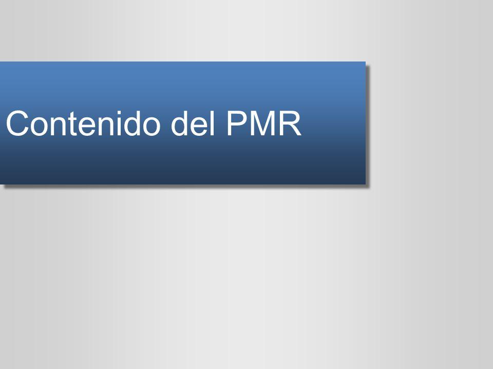 Contenido del PMR