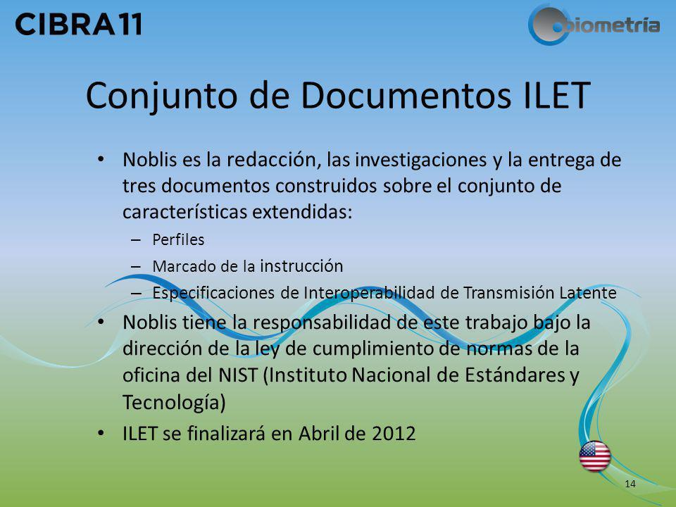 Conjunto de Documentos ILET Noblis es la redacción, las investigaciones y la entrega de tres documentos construidos sobre el conjunto de característic