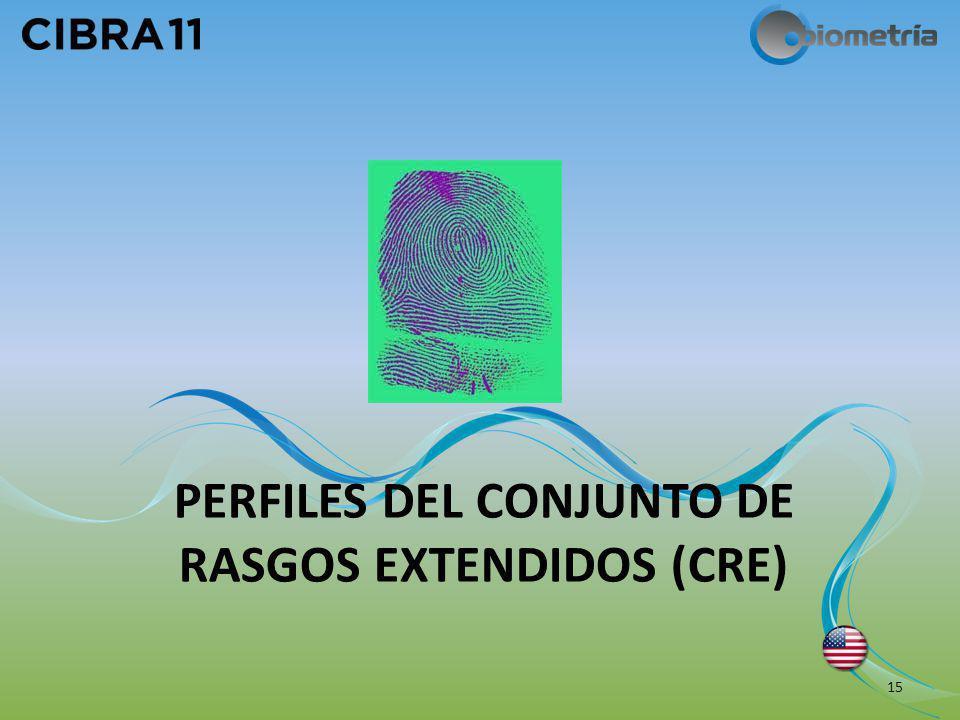 PERFILES DEL CONJUNTO DE RASGOS EXTENDIDOS (CRE) 15