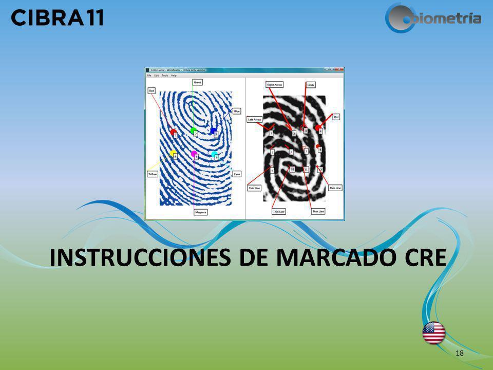 INSTRUCCIONES DE MARCADO CRE 18
