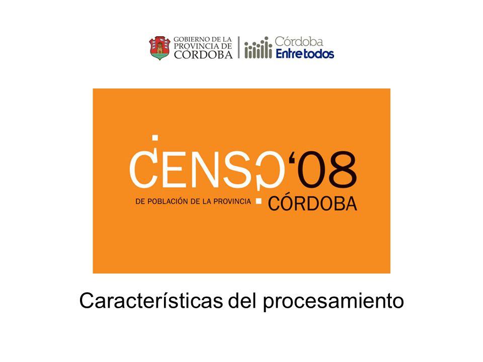 Antecedentes Planillas C1 Total En la Provincia de Córdoba: - Segundo Censo Provincial de Población: Años 1996 y 2008.