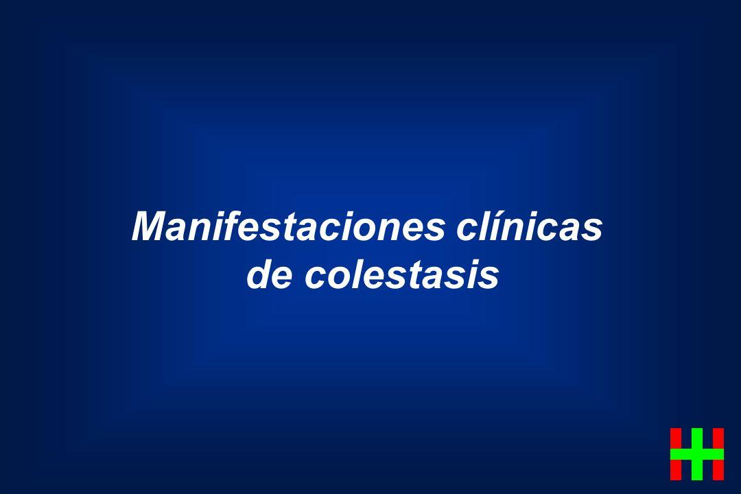 Manifestaciones clínicas de colestasis