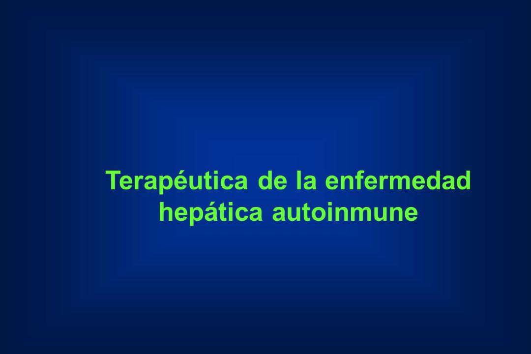 Terapéutica de la enfermedad hepática autoinmune