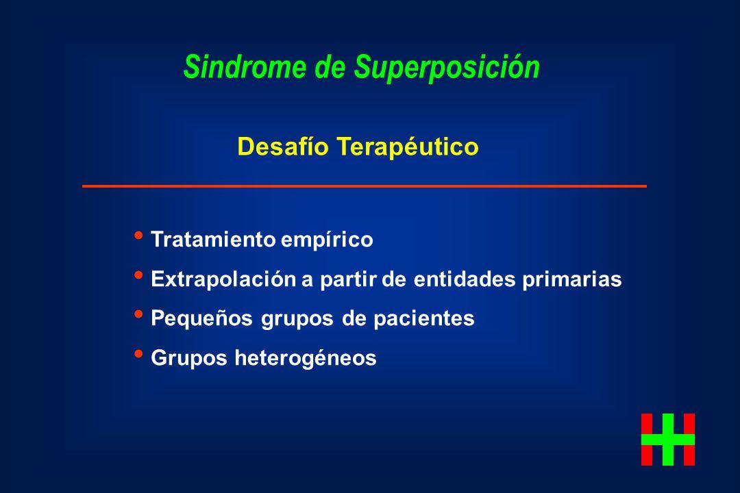 Sindrome de Superposición Desafío Terapéutico Tratamiento empírico Extrapolación a partir de entidades primarias Pequeños grupos de pacientes Grupos h