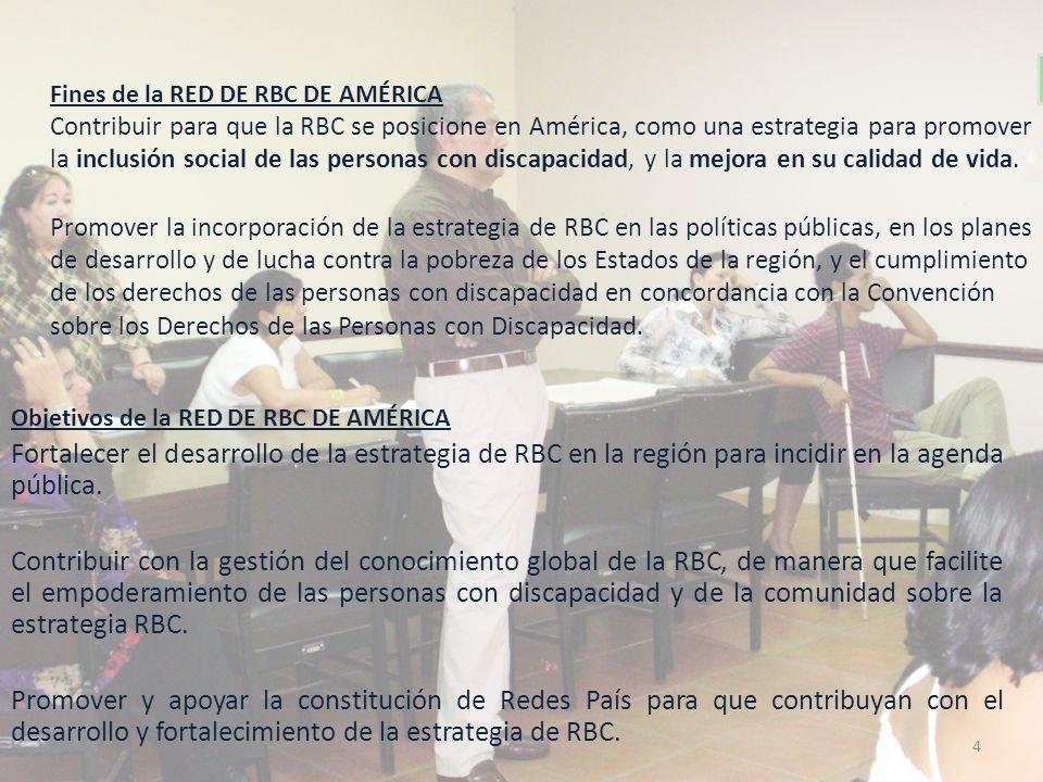 Organización de la RED DE RBC DE AMÉRICA La Asamblea: CONSTITUIDA POR TODOS.