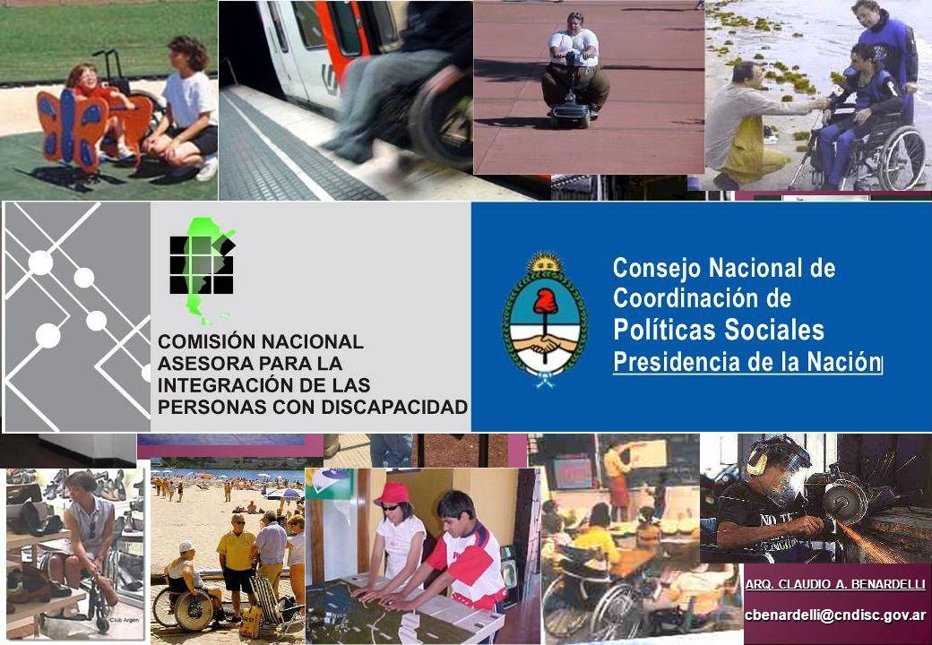 ARQ. CLAUDIO A. BENARDELLI cbenardelli@cndisc.gov.ar
