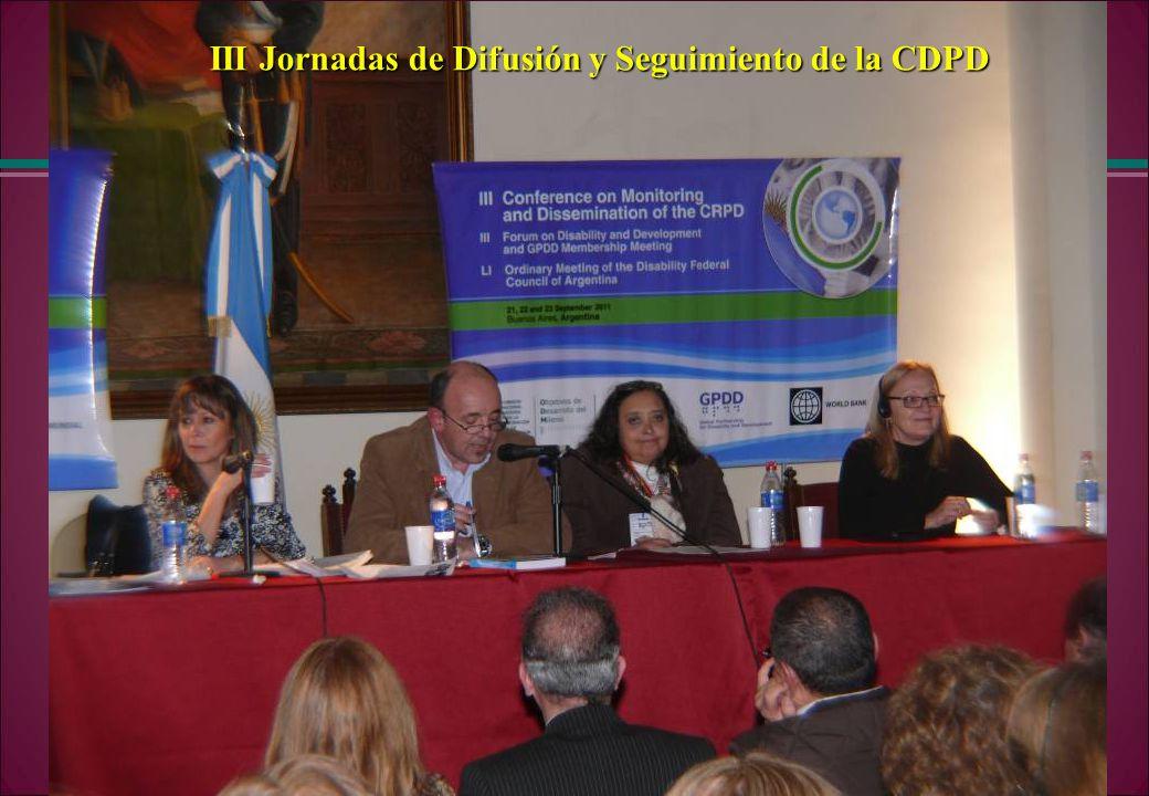 III Jornadas de Difusión y Seguimiento de la CDPD
