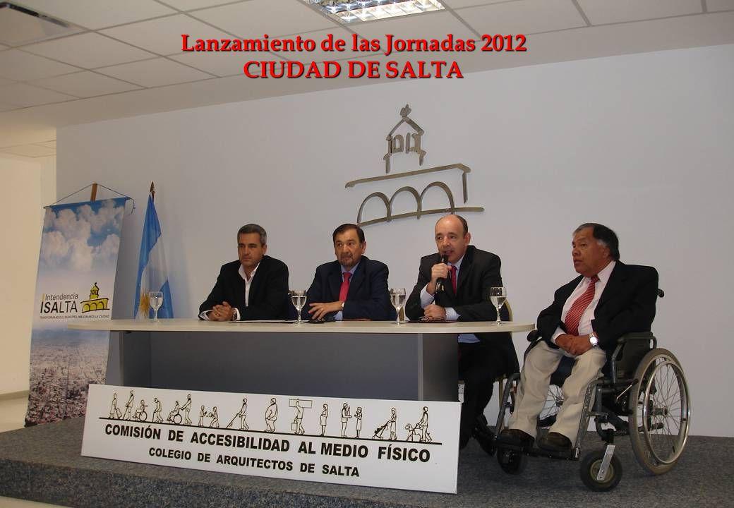 Lanzamiento de las Jornadas 2012 CIUDAD DE SALTA