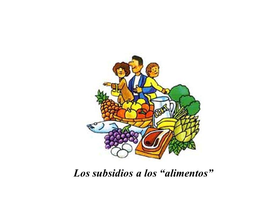 Los subsidios a los alimentos