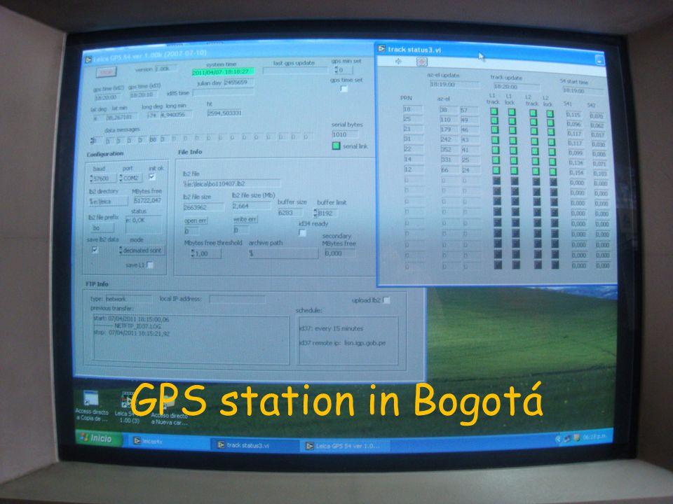 GPS station in Bogotá