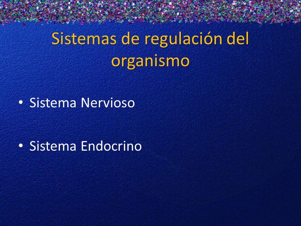 Sistemas de regulación del organismo Sistema Nervioso Sistema Endocrino