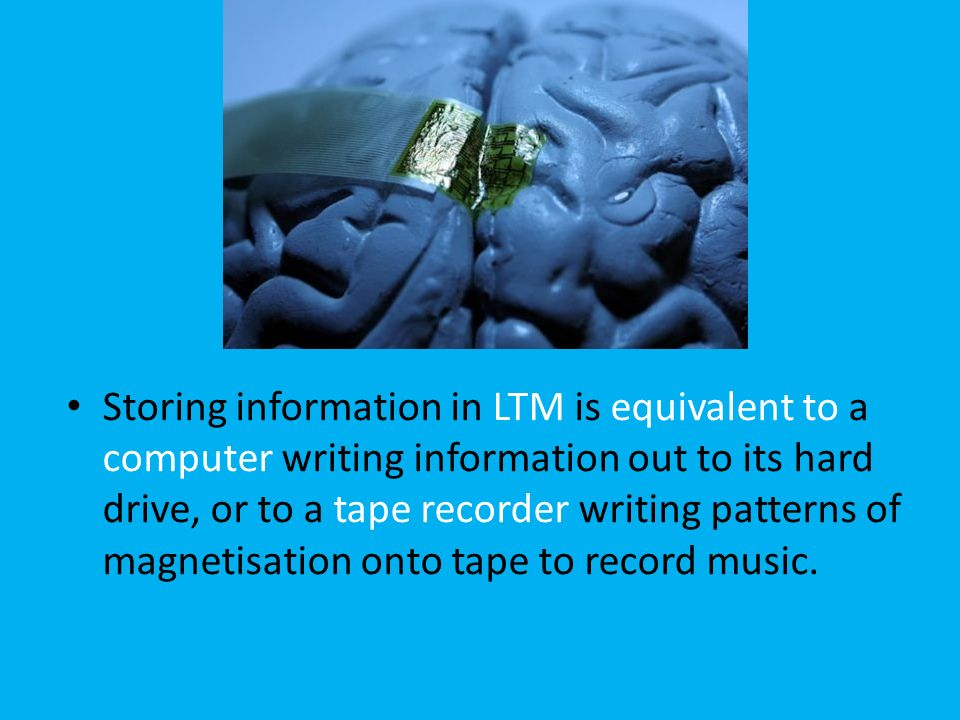 storing information