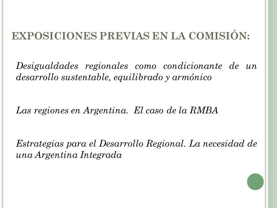Regionalización INDEC Extraído de BENEDETTI, 2008