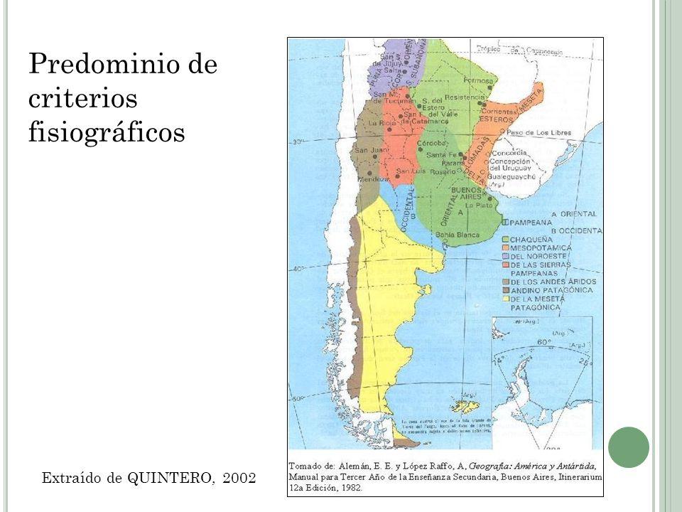 Predominio de criterios de ocupación y uso del suelo Extraído de ZAMORANO, 1964