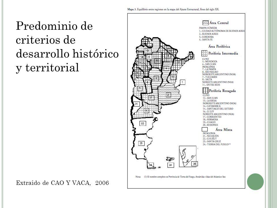SUBREGIONES DEL PLAN ESTRATÉGICO TERRITORIAL 2016 Fuente: Plan Estratégico Territorial Bicentenario, Ministerio de PFIPyS, 2010