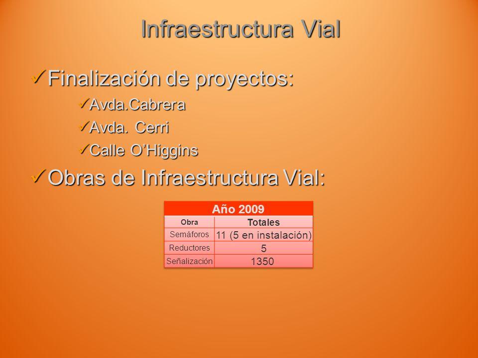 Infraestructura Vial Finalización de proyectos: Finalización de proyectos: Avda.Cabrera Avda.Cabrera Avda.