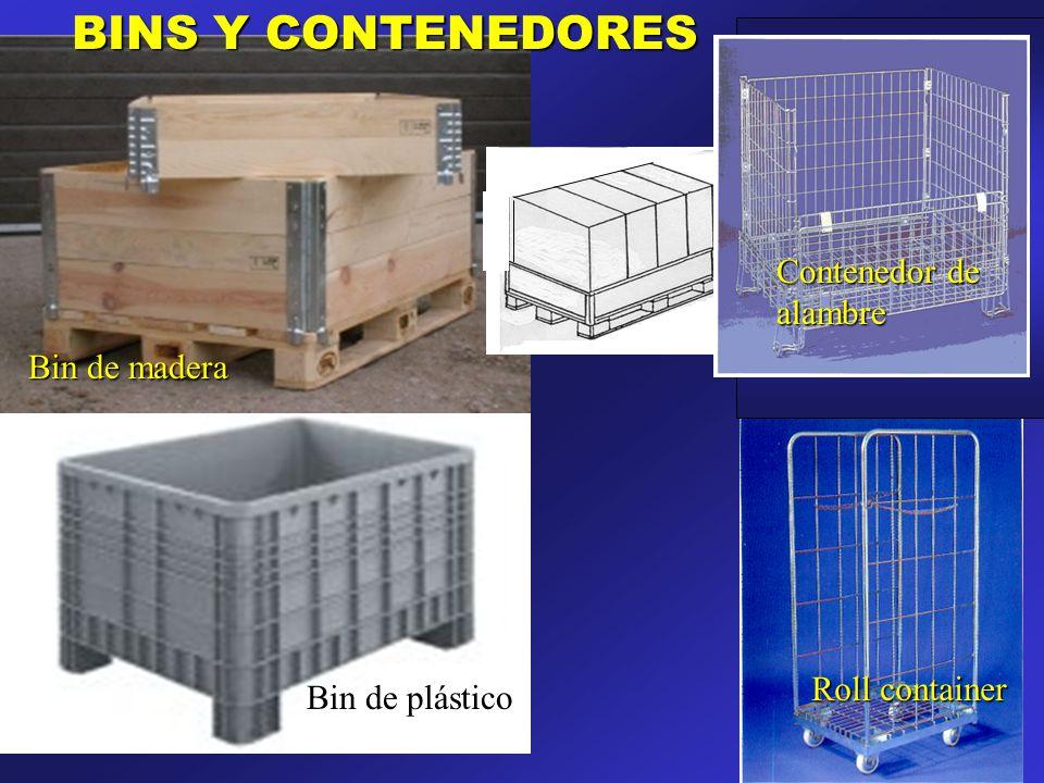 Bin de plástico Bin de madera BINS Y CONTENEDORES Roll container Contenedor de alambre