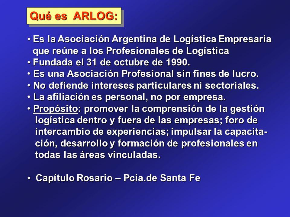 Es la Asociación Argentina de Logística Empresaria Es la Asociación Argentina de Logística Empresaria que reúne a los Profesionales de Logística que r