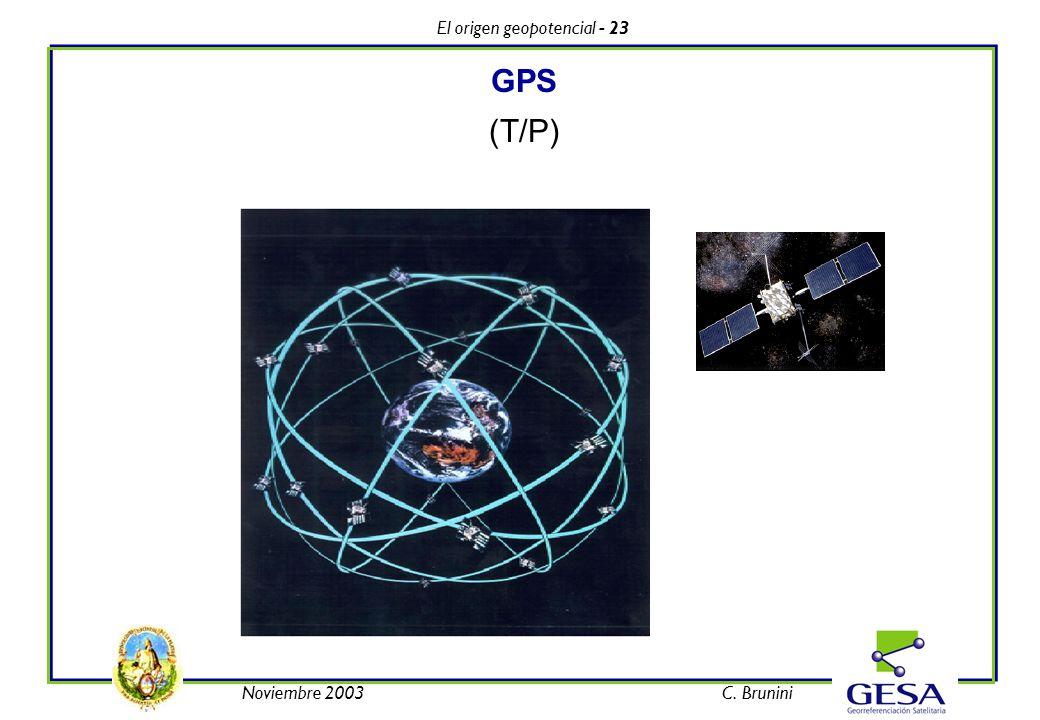 El origen geopotencial - 23 Noviembre 2003C. Brunini GPS (T/P)