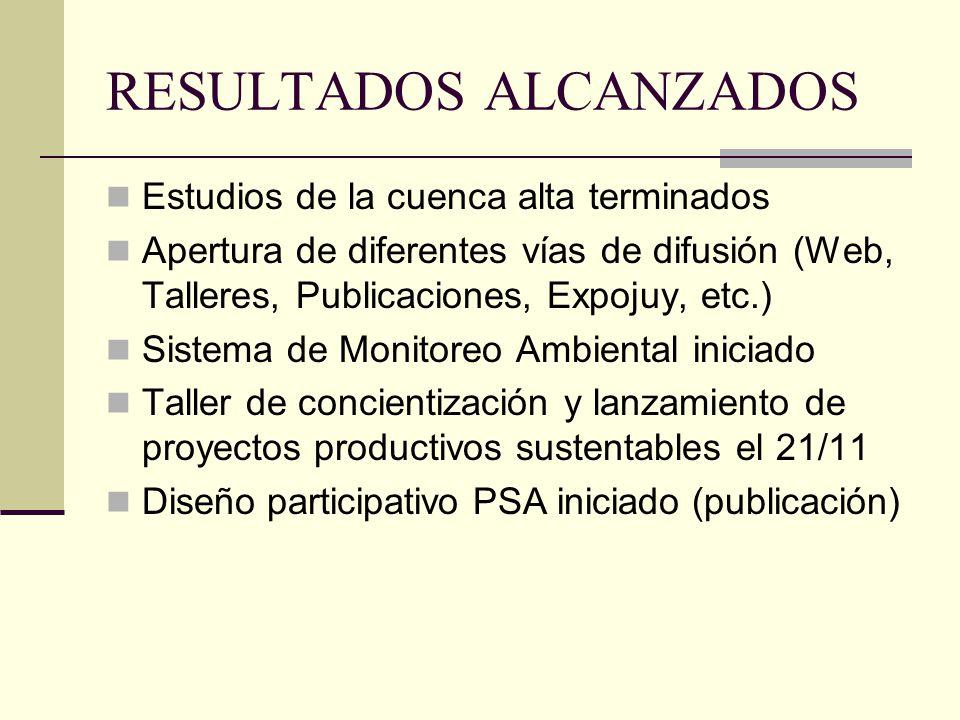 PRINCIPALES DESAFIOS Avanzar con la declaración de un área protegida Conformación de grupos de trabajo Iniciar los proyectos productivos sustentables Lograr más acuerdos de trabajo (INTA, p.