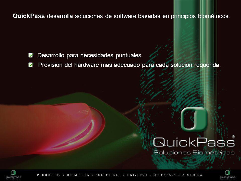 QuickPass desarrolla soluciones de software basadas en principios biométricos.
