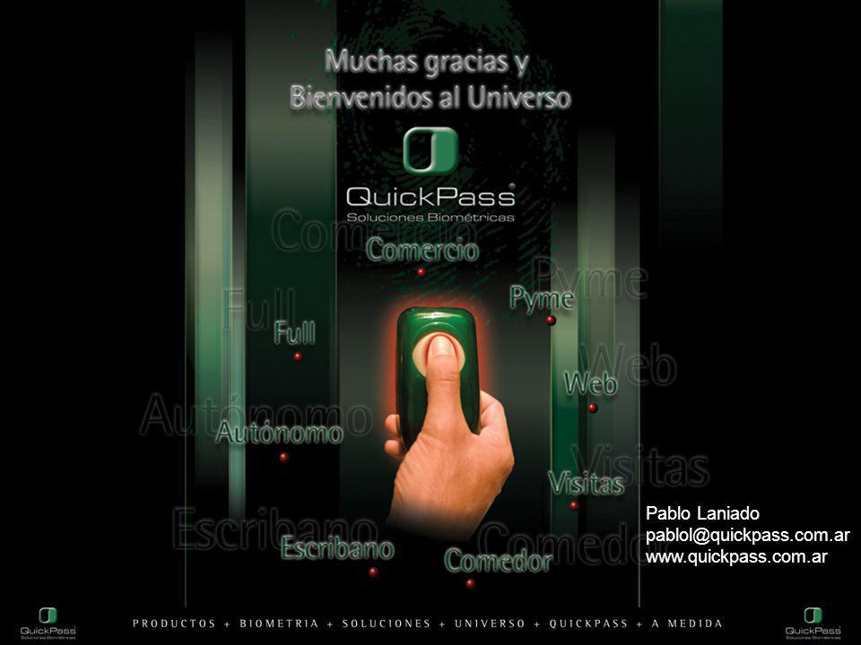 Pablo Laniado pablol@quickpass.com.ar www.quickpass.com.ar
