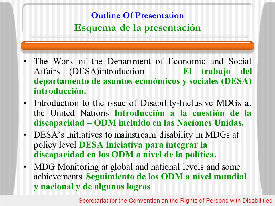 MDGs The MDGs are based on the commitments made by UN Member States in the Millennium Declaration in 2000 Los ODM se basan en los compromisos asumidos por los miembros de Estados de la ONU en la Declaración del Millenio en el año 2000 An Inter-agency and Expert Group (IAEG) was created to translate these commitments into operational targets and measurable indicators Un Interinstitucional y el Grupo de Expertos (GIE) se creó para traducir estos compromisos en objetivos operativos e indicadores mensurables