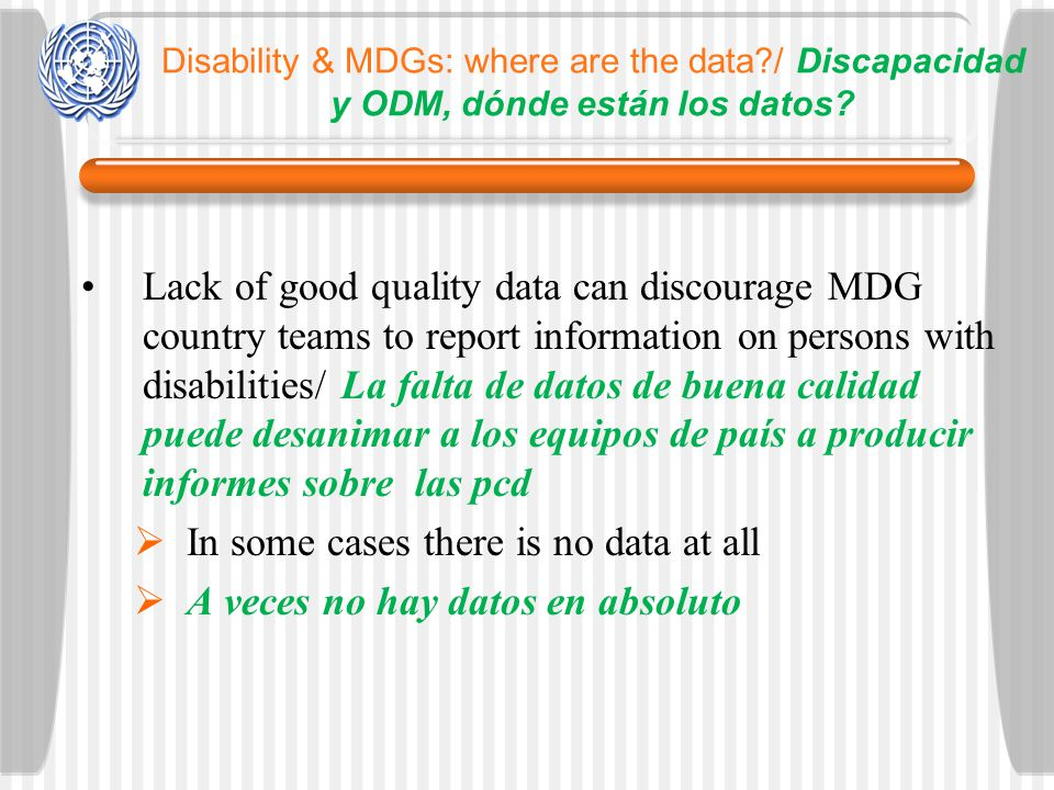 Disability & MDGs: where are the data?/ Discapacidad y ODM, dónde están los datos.