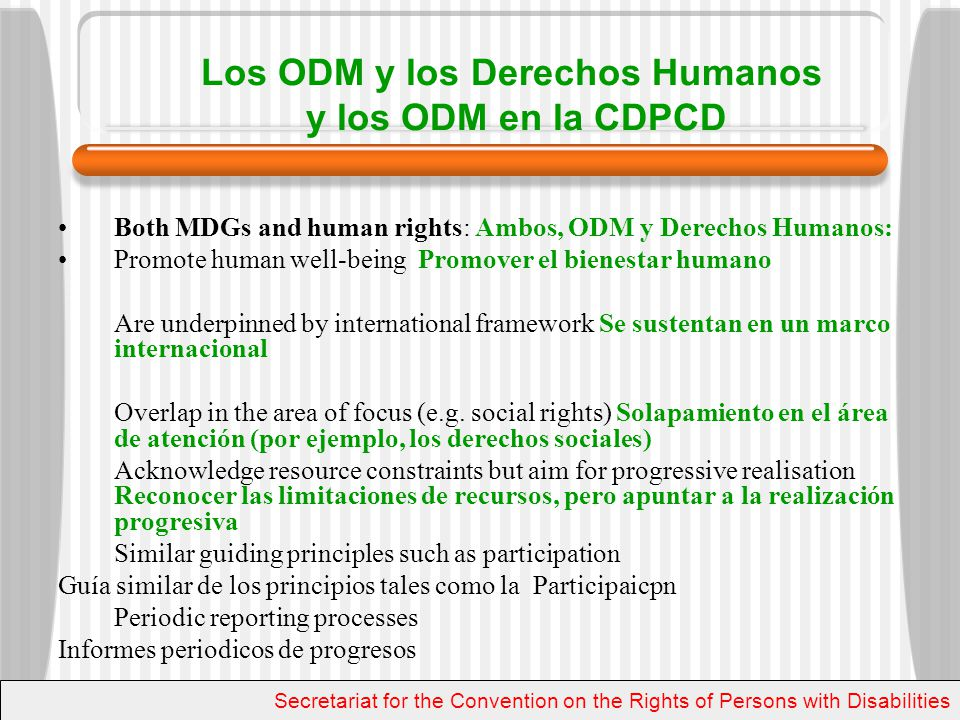 Resource for further information Para más información United Nations Secretariat for the Convention on the Rights of Persons with Disabilities Secretaria de la Convención sobre los Derechos de las Personas con Discapacidad de la ONU www.un.org/disabilities www.ohchr.org enable@un.org Secretariat for the Convention on the Rights of Persons with Disabilities