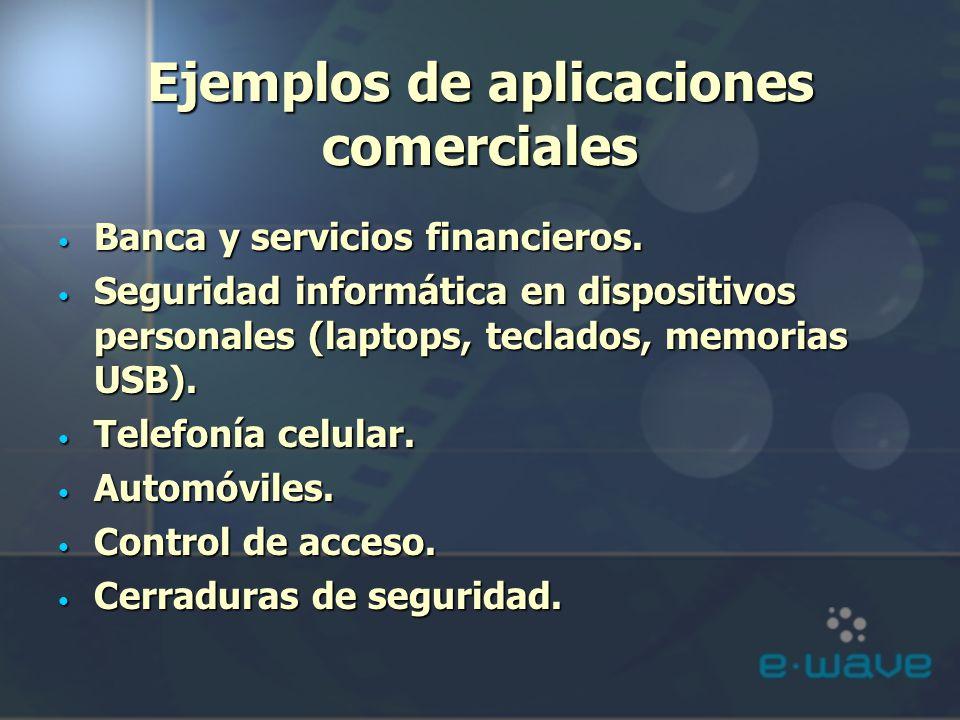 Ejemplos de aplicaciones comerciales Banca y servicios financieros. Banca y servicios financieros. Seguridad informática en dispositivos personales (l