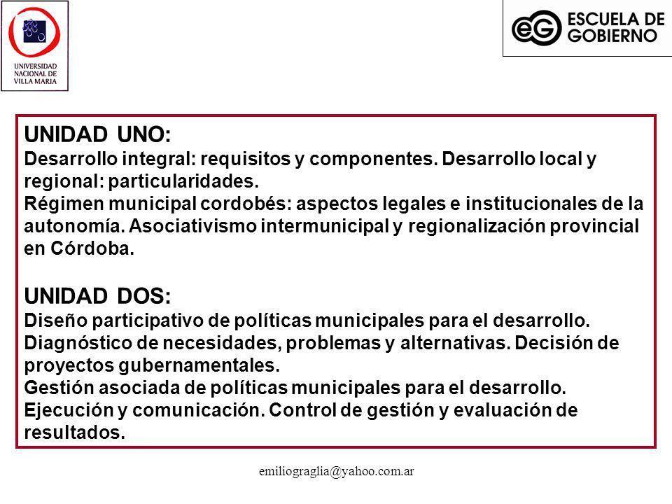 emiliograglia@yahoo.com.ar El municipalismo cordobés...