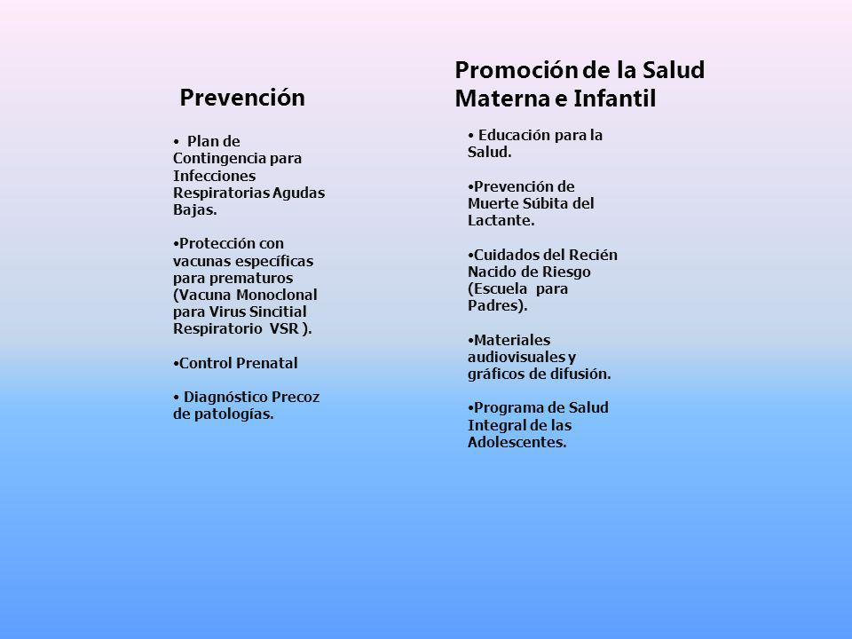 Prevención Plan de Contingencia para Infecciones Respiratorias Agudas Bajas.