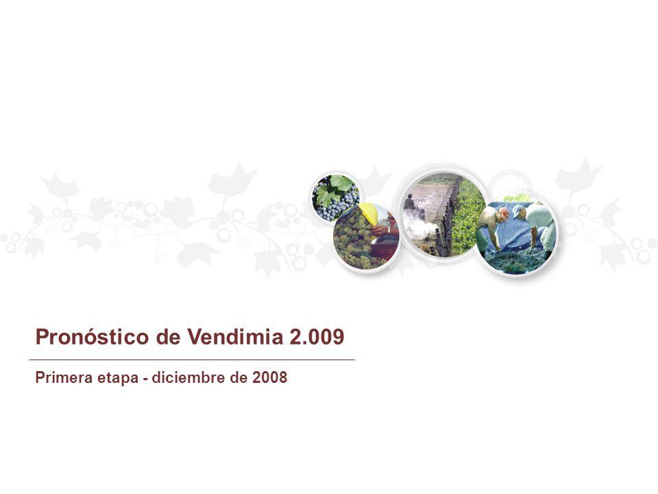 PRONOSTICO 2.009 (QQ) MENDOZA SAN JUAN LA RIOJA CATAMARCA SALTA R.NEGRO Y NEUQUÉN CÓRDOBA TOTAL PAÍS Pronóstico de producción de uvas 2009 PROVINCIAS 18.243.663 8.316.052 1.125.285 217.254 256.911 146.217 13.626 28.319.008 2.008 (QQ) 1,0340 0,8889 0,9968 0,9817 0,9830 1,8884 0,9226 0,9934 COEF.