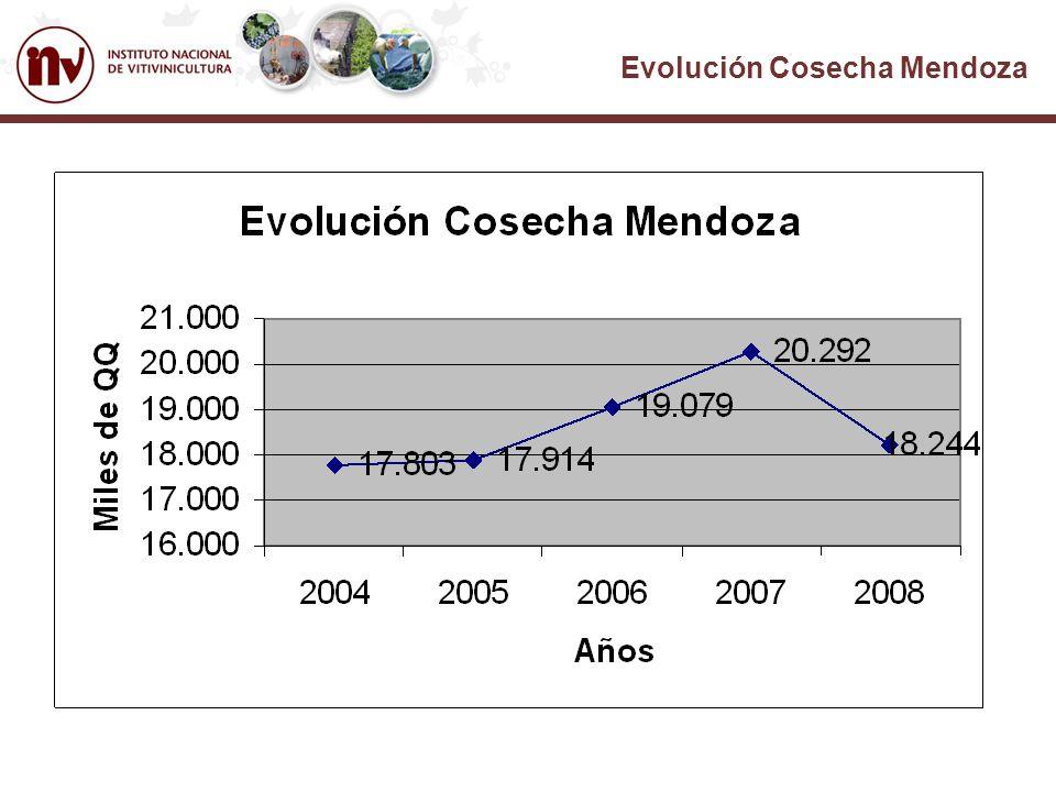 Evolución Cosecha Mendoza