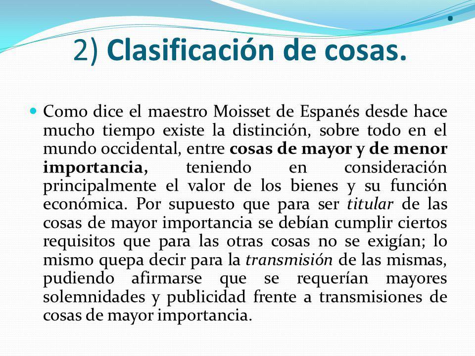 2) Clasificación de cosas.
