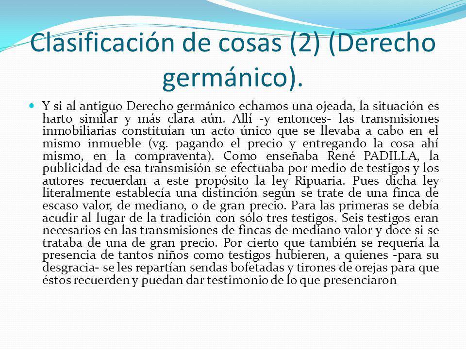 Clasificación de cosas (2) (Derecho germánico).
