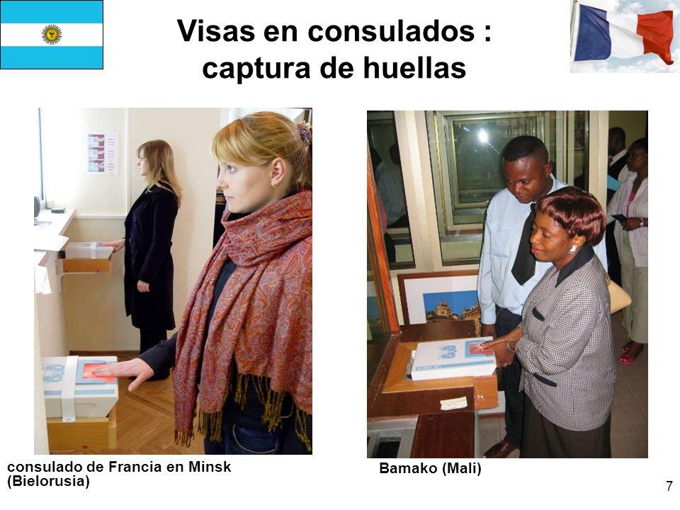 7 Visas en consulados : captura de huellas consulado de Francia en Minsk (Bielorusia) Bamako (Mali)