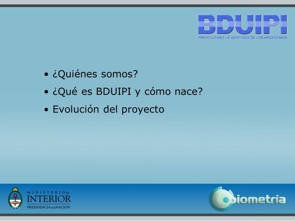 2 ¿Quiénes somos ¿Qué es BDUIPI y cómo nace Evolución del proyecto