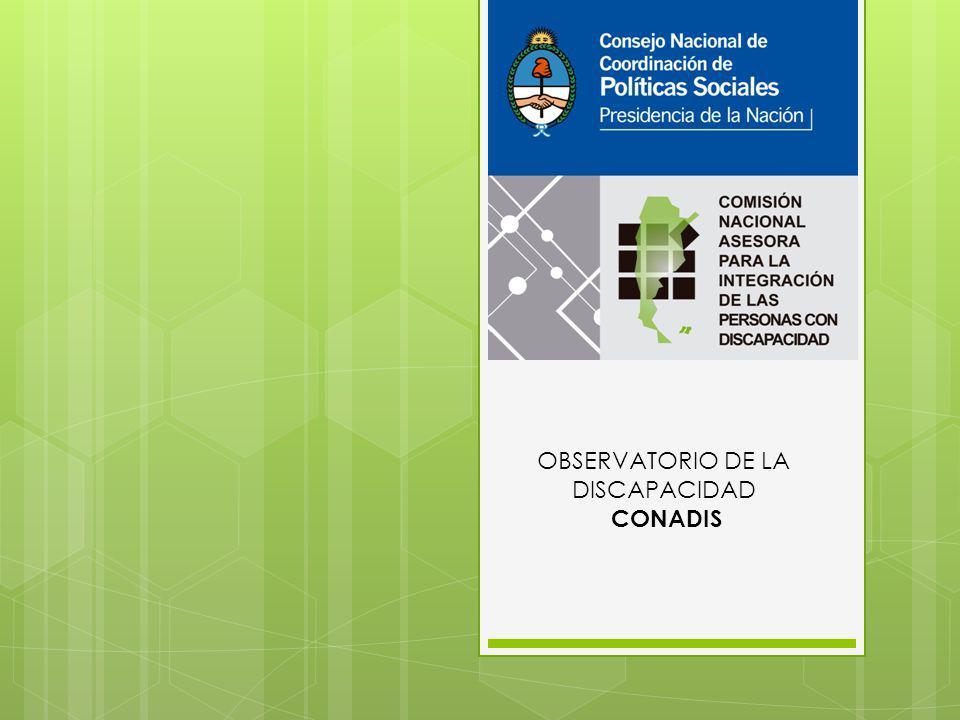 OBSERVATORIO DE LA DISCAPACIDAD CONADIS